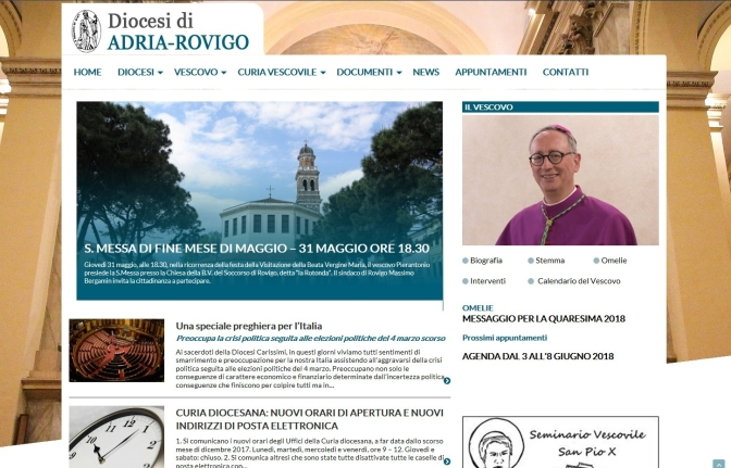 Nuovo sito diocesano www.diocesiadriarovigo.it